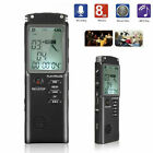 32GB Rechargeable LCD Digital Audio Sound Voice Recorder Dictaphone MP3 Player