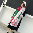 Women Girl Xmas Christmas Scarf Shawl Wrap Winter Warm Knitted Novelty Gift Red