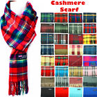 Kyпить Winter Womens Mens 100% Cashmere Plaid Solid Scarves Wool Scarf Scotland Made на еВаy.соm