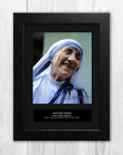 Mother Teresa 1 Autographed Mounted Reproduction Print A4