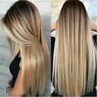 Hot Women Blonde Wig Ombre Long Brown Gold Straight Black Synthetic Hair Wigs $14.59 USD on eBay