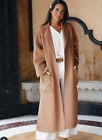 ZARA NEW FW19 COAT WITH PATCH POCKETS CAMEL BELT SIZES XS S M L XL REF 7522/249, used for sale  Shipping to Ireland