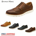 Bruno Marc Mens Formal Genuine Leather Casual Dress Lace Up Business Oxford Shoe