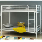New Single 3ft Twin Bunk Bed Metal Sleeper in 3 colours