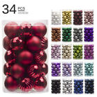 Купить 34PC 40mm Christmas Tree Balls Bauble Hanging Home Party Ornament Decor Xmas