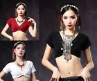 Tribal Belly Dance Clothes Crop Top Choli V Neck Backless Plus Size Gypsy Top
