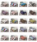 Ambesonne Bed Coverlet Set Quilted Decorative for Bedspread with Pillow Shams image