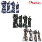 Golf Wood Head Covers for Driver Fairway Hybrid Camouflage Cover Set 4Pcs/SR