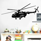 Military Helicopter Pattern Wall Stickers Home Decoration Accessories For Living