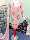 Designer embroidered Chiffon Stitched Suit pink  Pakistani Indian Party Wear