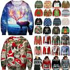 Mens Womens Christmas Xmas Ugly Jumper Blouse Sweatshirt Sweater Pullover Tops