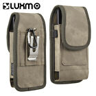 HOLSTER BELT CLIP VERTICAL POUCH WITH DUAL CREDIT CARD SLOTS FOR SMARTPHONES
