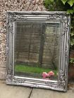 Large Silver Ornate Wall Mirror Rustic Silver French Hallway Bathroom Two Sizes