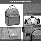 Baby Diaper Nappy Backpack Multi-Function Bag Polka Dot Grey Mummy Changing Bag