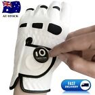 1 Pack Mens Golf Gloves Leather with Ball Marker Weathersof Grip Left Right