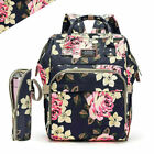 Diaper Bag Backpack Mummy Baby Nappy Insulated Bottle Bag  Changing Pad Hooks