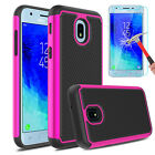 For Samsung Galaxy J3 Orbit SM-J337 Phone Case Armor With Glass Screen Protector