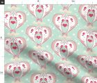 Narwhals In Love Nautical Narwhal Nursery Fabric Printed by Spoonflower BTY