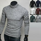 New Mens Knit Turtleneck Tight Sweater Pullover Long Sleeve Jumper Tops E522 S/M