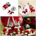 Christmas Cutlery Holder Fork Spoon Knife Dinner Table Decor Santa Father Suit