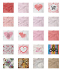 Ambesonne Vintage Love Decorative Satin Napkins Set of 4 Party Dinner Fabric