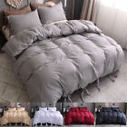 Duvet Cover Strap Comforter Cover w Pillowcase Bedding Set Twin Queen King Size  image