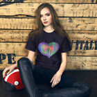 Watercolor Heart- Short-Sleeve Unisex T-Shirt (hand-painted print) Sizes XS-4XL