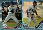 2019 BOWMAN DRAFT CHROME SKY BLUE REFRACTOR PROSPECT ROOKIE RC SINGLES YOU PICKBaseball Cards - 213