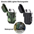 Dual Arc Electric USB Lighter Rechargeable Plasma Windproof Flameless New