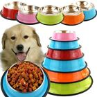Stainless Steel Cage Coop Cup Dog Puppy Food Water Bowl Pet Feeders