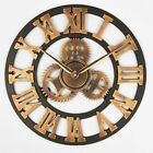 Wall Clock Oversized Vintage Home Decoration Rustic Retro Wooden Handmade Watch