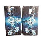 Tempered Glass + Wallet Pouch Cover Case For AT&T Emblem Radiant Core U304AA