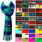 Внешний вид - Womens Mens Winter 100% Cashmere Plaid check Scarves Wool Scarf Scotland Made