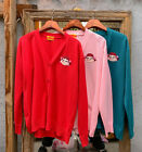 [PEKO-CHAN] PEKO MILKY Long Sleeve Cardigan Red / Pink / Blue-green - Free Ship