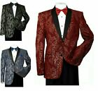 Men's Formal Tuxedo Blazer/Jacket Metallic Sequin Shawl Collar Jacket 816
