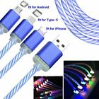 Visible LED Light UP Micro USB Data Luminous Sync Charger Cable For Phone Gifts