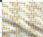 Math Counting Abacus School Scandinavian Dots Fabric Printed by Spoonflower BTY