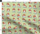 Puppy Yoga Positions Kawaii Gym Om Fitness Fabric Printed by Spoonflower BTY