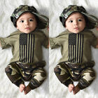 Kyпить US Newborn Kids Baby Boy USA Flag Tops T-Shirt Camouflage Pants Outfits Clothes на еВаy.соm