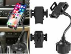 Adjustable 360° Universal Car Mount Holder Gooseneck Cup Cradle for Cell Phone