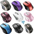 Wireless Mouse Adjustable DPI Ergonomic Portable Optical Mouse for PC Windows US
