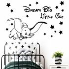 Colorful Dream Big Little One Self Adhesive Vinyl Wall Art Decal Wall Stickers