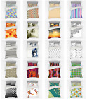 Ambesonne Surreal Motifs Bedding Set Duvet Cover Sham Fitted Sheet in 3 Sizes