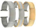 Bandini Steel Stretch Watch Band Expansion Strap Adjustable 18-22mm Silver, Gold image