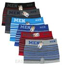 Lot 6 Pack Mens Microfiber Boxer Briefs Underwear Compression Stretch Sport Flex