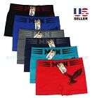 Внешний вид - Lot 6 Pack Mens Microfiber Boxer Briefs Underwear Compression Stretch Sport Flex