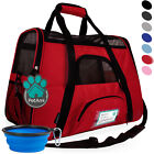 Pet Carrier Soft Sided Puppy Kitten Cat Dog Tote Bag Travel Airline Approved