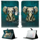 "For 7"" inch Tablet Universal Animal Printed Folio Stand Flip Leather Case Cover"