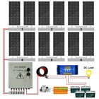 2400W 1200W 2KW 1KW Off Grid Complete Solar Panel System For Home RV Shed Marine