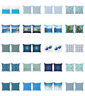 Ambesonne Blue Print Cushion Cover Set Of 2 For Couch And Bed In 4 Sizes